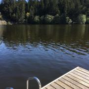 Pender Weekender b&b swim deck Magic Lake